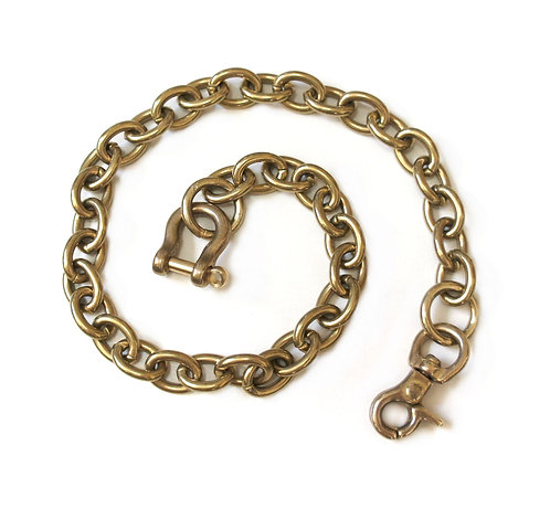 Wallet Chain [ Oval 2.8mm x 45cm / Brass ] Smoky Sumi's Store