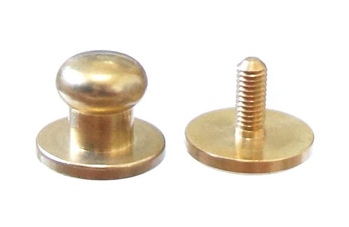 8mm Button Stud [ Brass - Screw back ] Smoky Sumi's Store