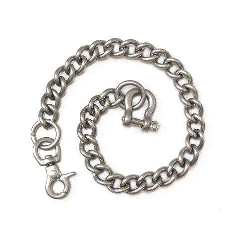Wallet Chain [ Smooth shape 2.8mm x 35cm / Matte Silver ] Smoky Sumi's Store