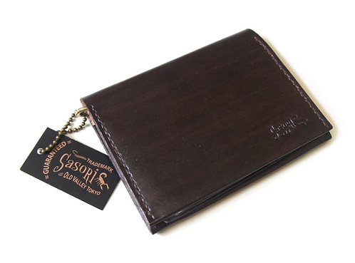 SasoRi Old Valley Tokyo Leather Card Case Wallet [ Brown ]