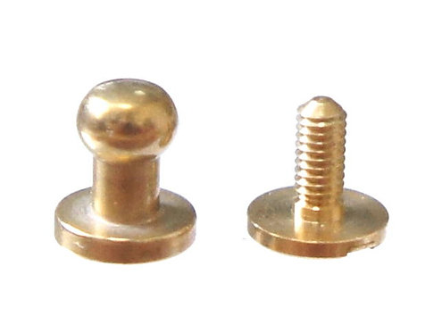 5mm Button Stud [ Brass - Screw back ] Smoky Sumi's Store