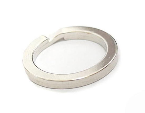 27mm Flat Split Ring [ Matte Nickel ] Smoky Sumi's Store