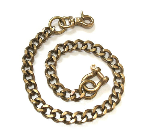 Wallet Chain [ Flat Cut 2.8mm x 40cm / Brass ] Smoky Sumi's Store