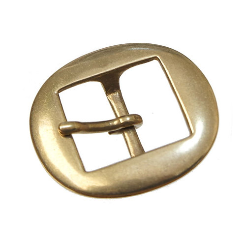 32mm Flat Oval Buckle [ Brass ] Smoky Sumi's Store