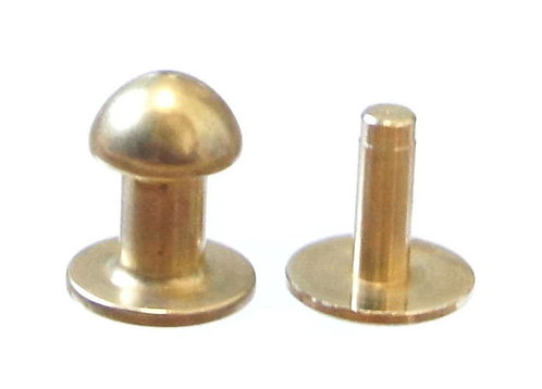 10pcs Wholesale / 8mm Long Button Stud [ Brass - Rivet back ] Smoky Sumi's Store