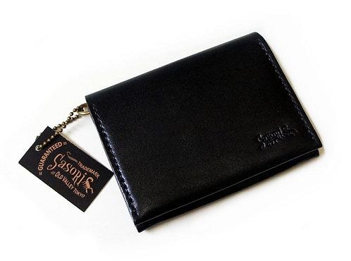 SasoRi Old Valley Tokyo Leather Card Case Wallet [ Black ]