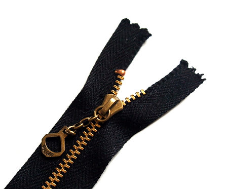 Waldes Zipper [ Black 13 cm ] Smoky Sumi's Store