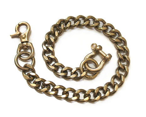 Wallet Chain [ Flat Cut 2.8mm x 35cm / Brass ] Smoky Sumi's Store