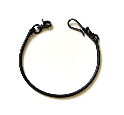 SasoRi Old Valley Tokyo Leather Wallet Chain [ Model-B / Black x Black hook ]