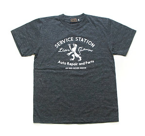 "SasoRi ""Lion Service Station"" T Shirt / Heather Black"