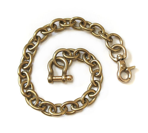 Wallet Chain [ Oval 2.8mm x 35cm / Brass ] Smoky Sumi's Store