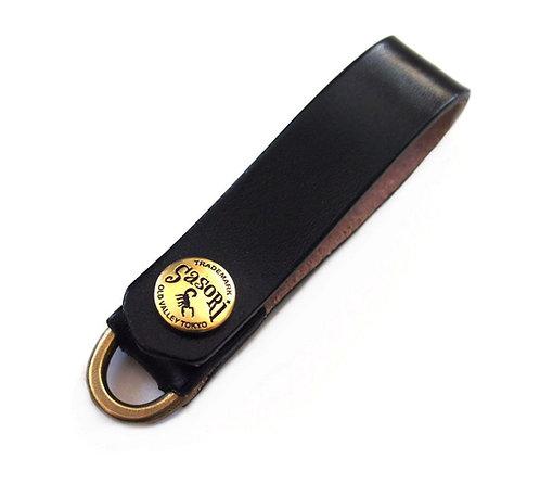 SasoRi Old Valley Tokyo Leather Belt Holder [ Model-A / Black ]