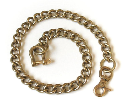 Wallet Chain [ Smooth Shape 2.8mm x 45cm / Brass ] Smoky Sumi's Store