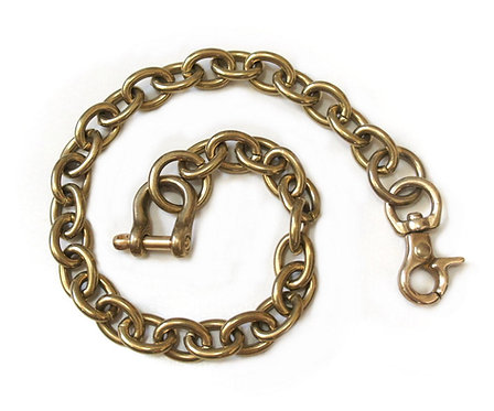 Wallet Chain [ Oval 2.8mm x 40cm / Brass ] Smoky Sumi's Store