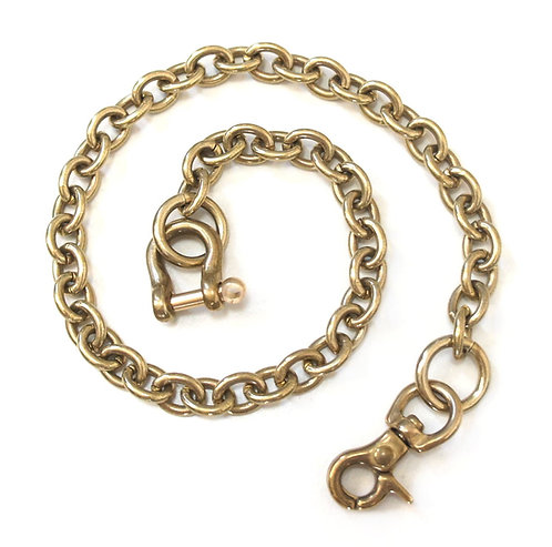 Wallet Chain [ Oval 2.2mm x 45cm / Brass ] Smoky Sumi's Store