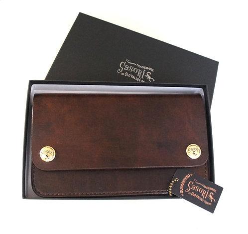 SasoRi Old Valley Tokyo Leather Wallet [ Standard - Brown ]