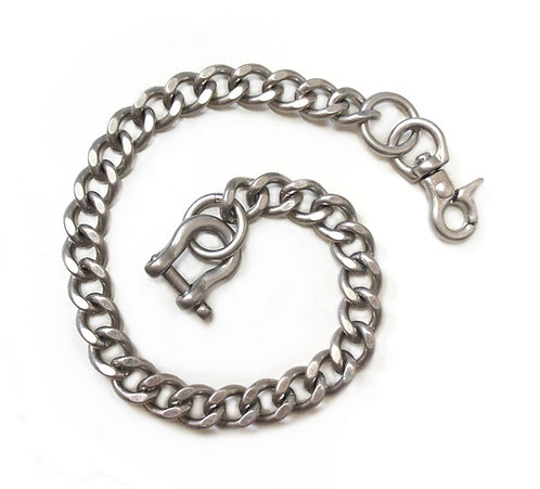 Wallet Chain [ Flat Cut 2.8mm x 35cm / Matte Silver ] Smoky Sumi's Store