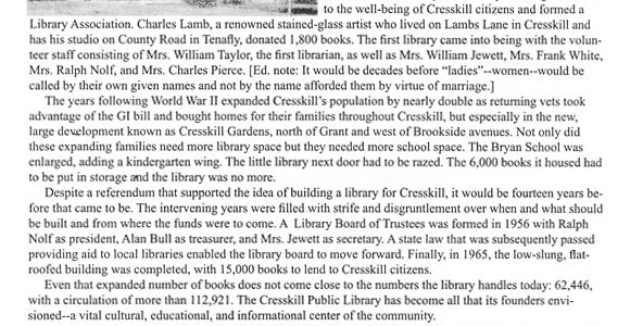 """""""Cresskill's History is Told Through Its Houses and Its People"""""""
