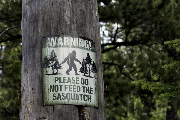 Please do not feed the Sasquatch sign po