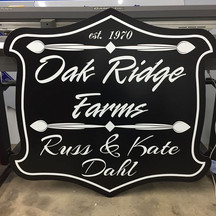 Custom cut sign designed and built for c