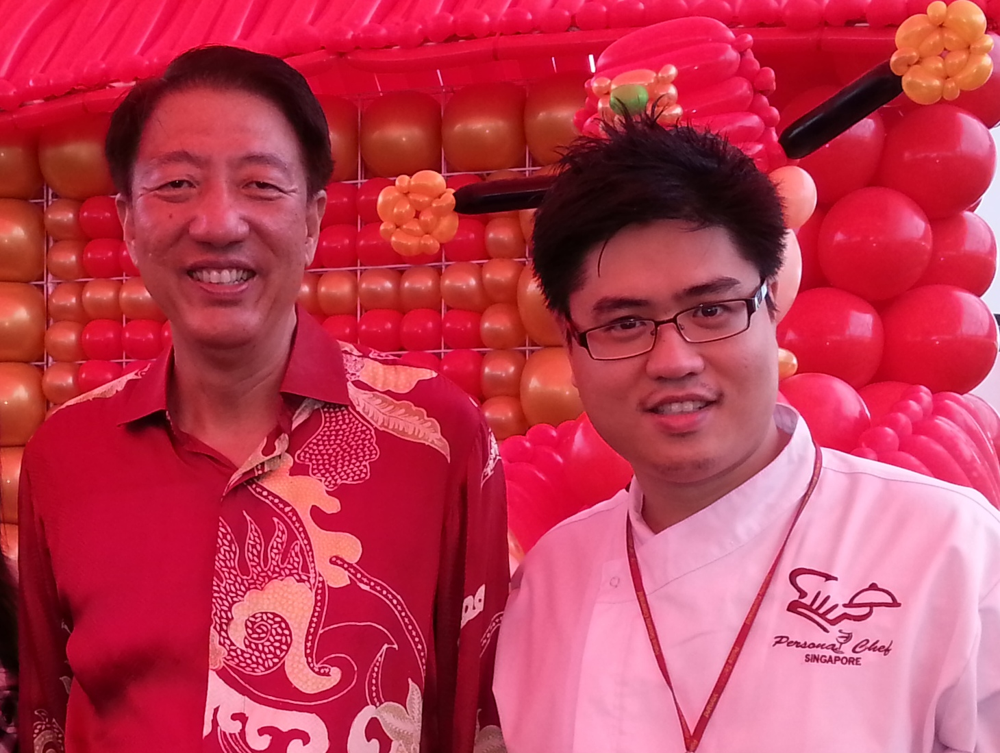 Chef John Sawarto With DPM Teo Chee Hian