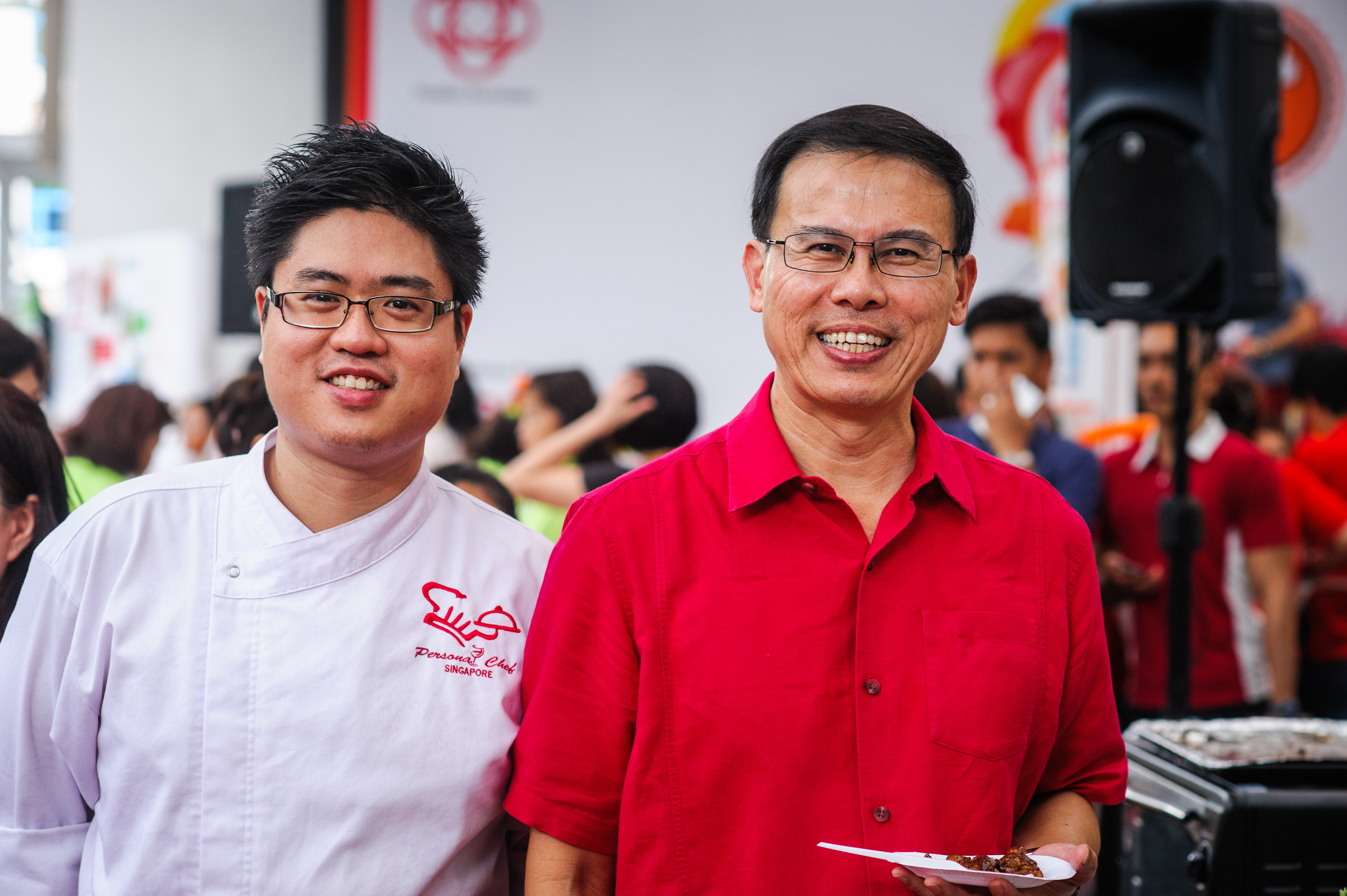 Chef John Sawarto With Dr Teo Ho Pin - Mayor North West District & Deputy Government Whip
