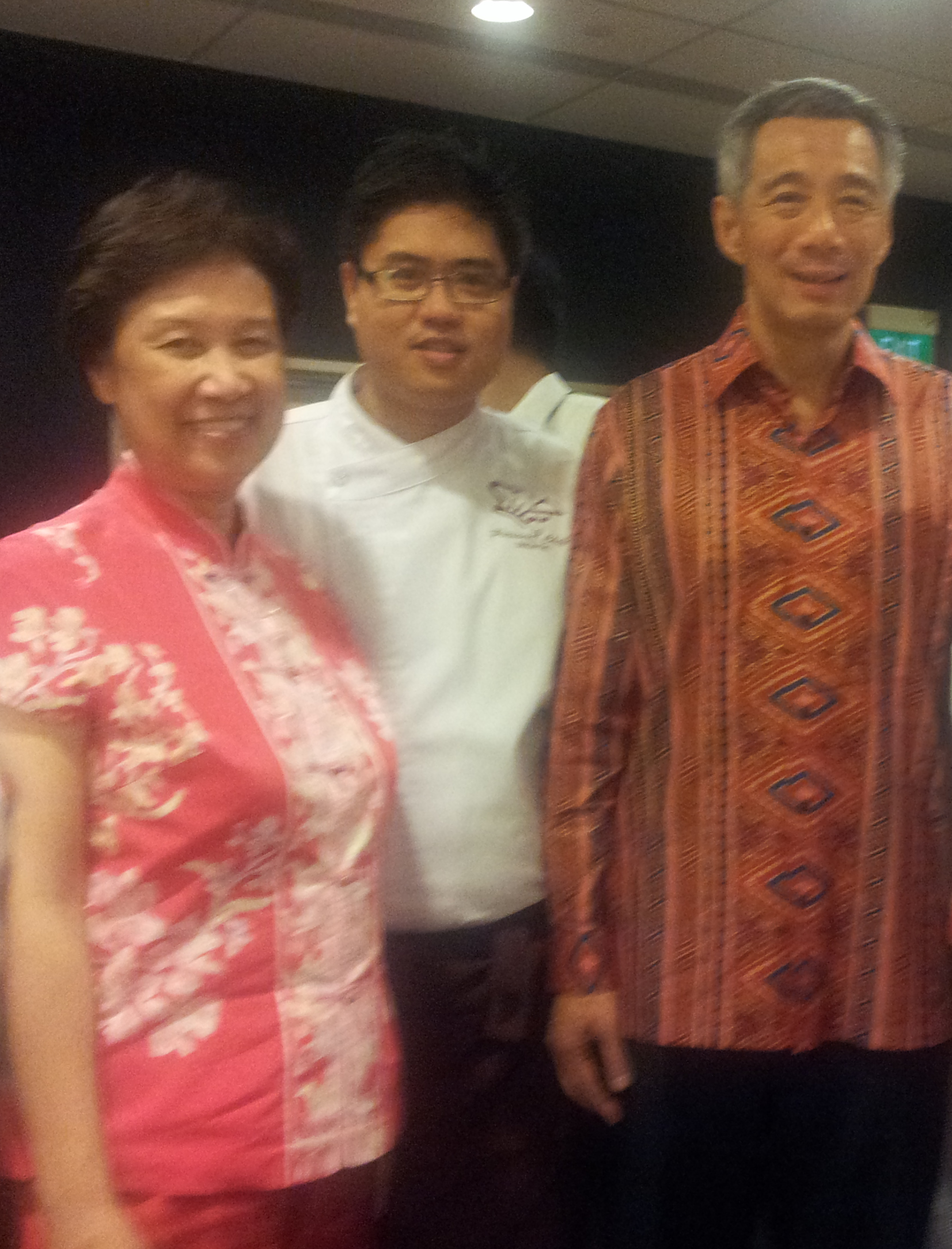 Chef John Sawarto With PM Lee Hsien Long