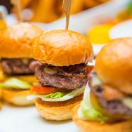Mini Hamburgers With Crispy French Fries