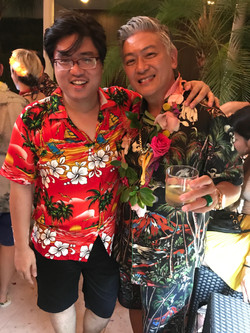 With Dick Lee