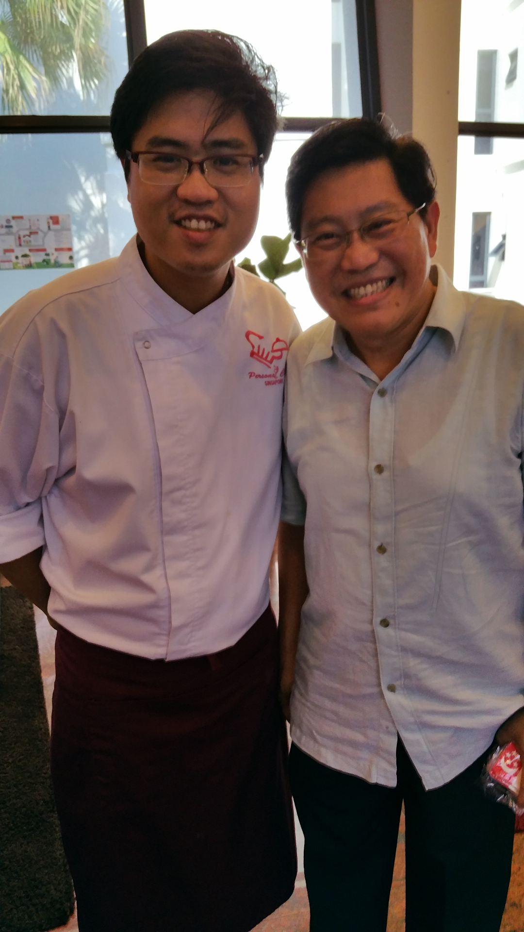Chef Sawarto With MP Yeo Guat Kwang