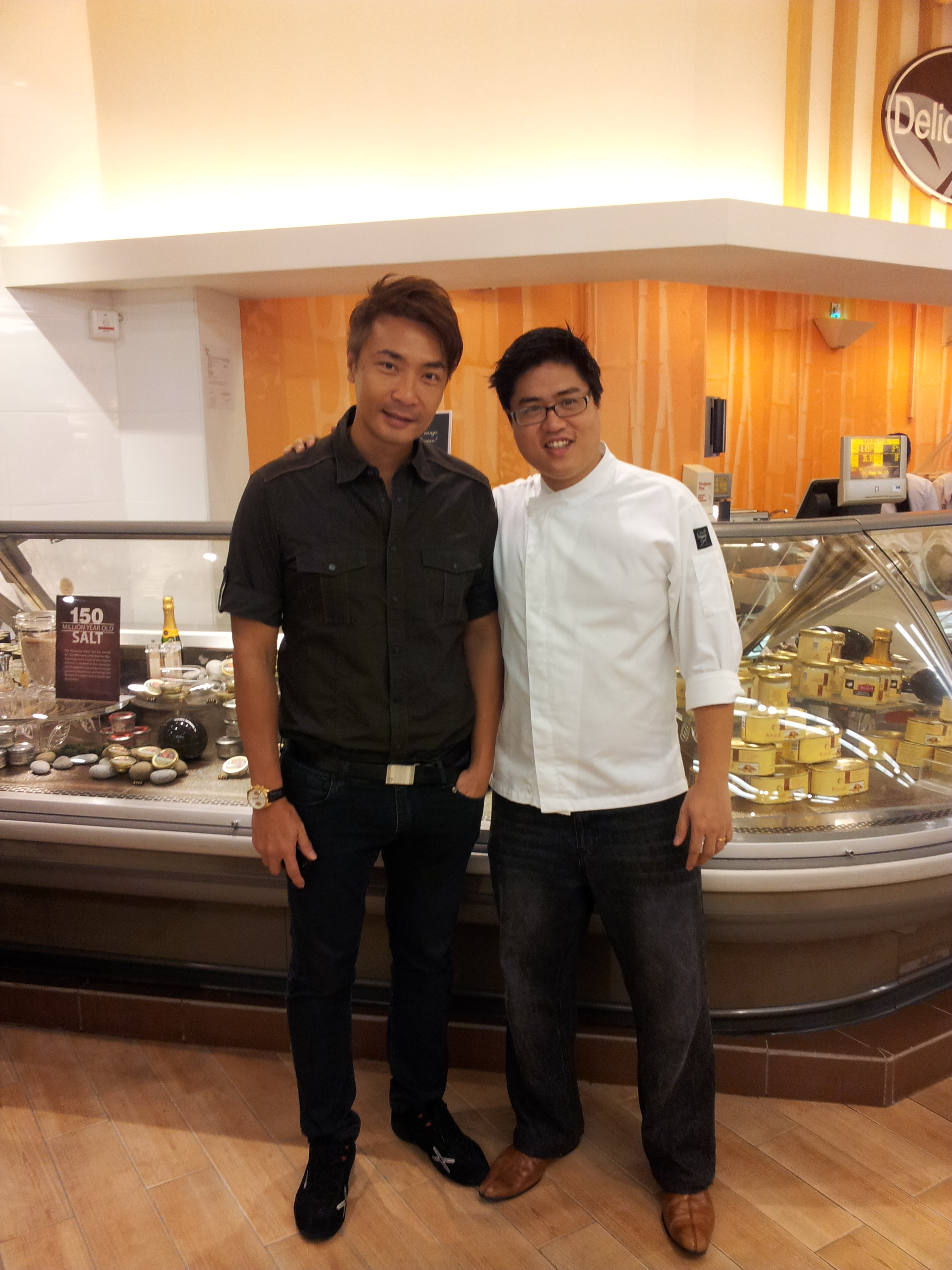 Chef John Sawarto With Celebrity Tay Peng Hui