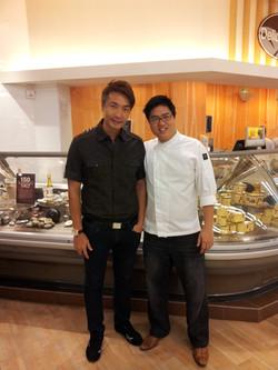 Chef John Sawarto With Celebrity Tay Peng Hui