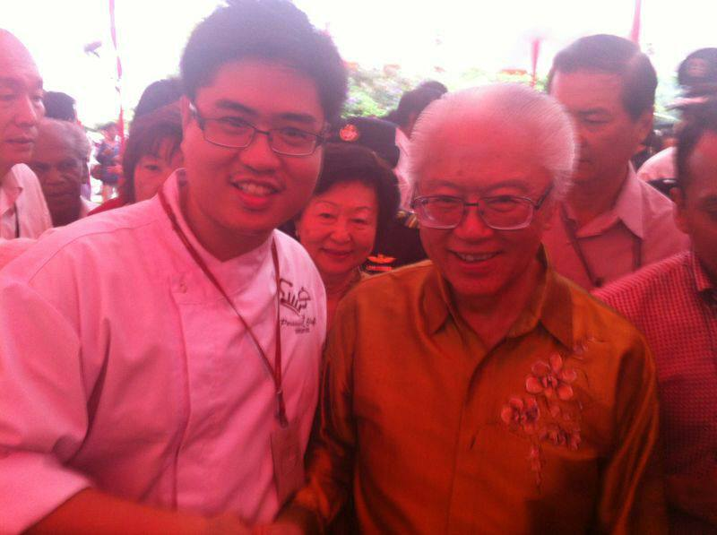 Chef John Sawarto With President Dr. Tony Tan