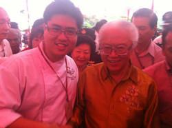 Chef John Sawarto With President Dr. Tony Tan