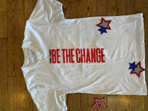 WHITE BE THE CHANGE YOUTH TEE