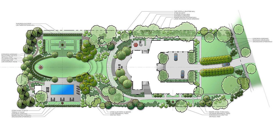 Master Landscape Plan-Residential: Unique 'Context-sensitive' Formal Design utilizing 100% Native Pl