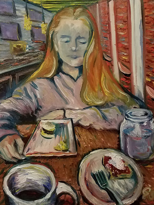 girl at the cafe
