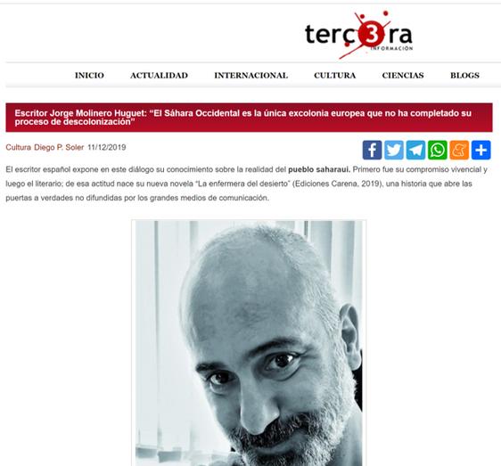 Entrevista en el diario Tercera Información