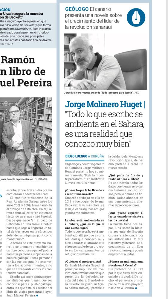 Entrevista en El Ideal Gallego