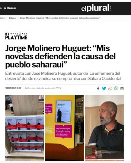 Entrevista en el diario El Plural