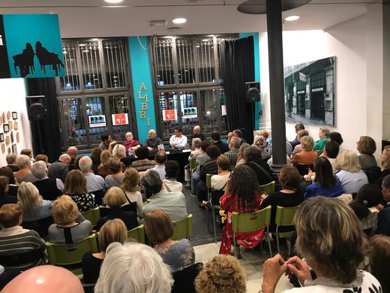 Primera presentación de La enfermera del desierto en la librería Alibri (Barcelona)