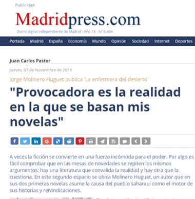 Entrevista en MadridPress
