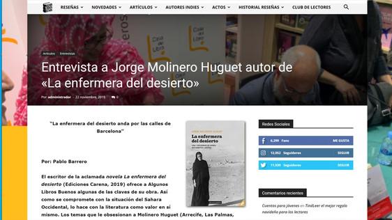 """Entrevista en el blog literario """"Algunos libros buenos"""""""