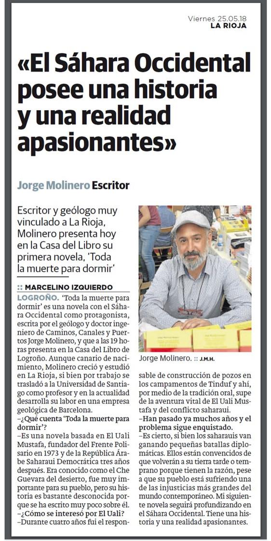 Entrevista en el Diario La Rioja