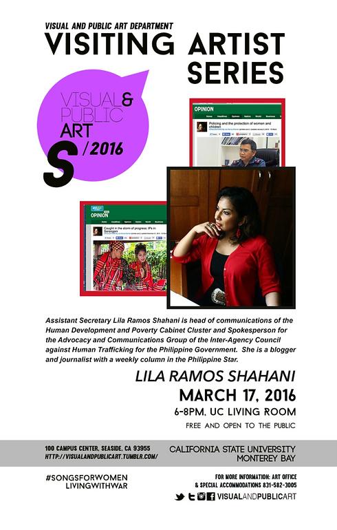 Lila Ramos Shahani Visiting Artist Lectu