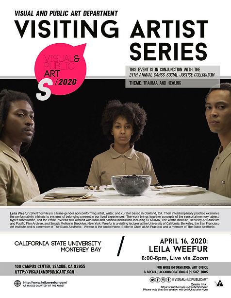 Spring 2020 visiting artists series-Leil