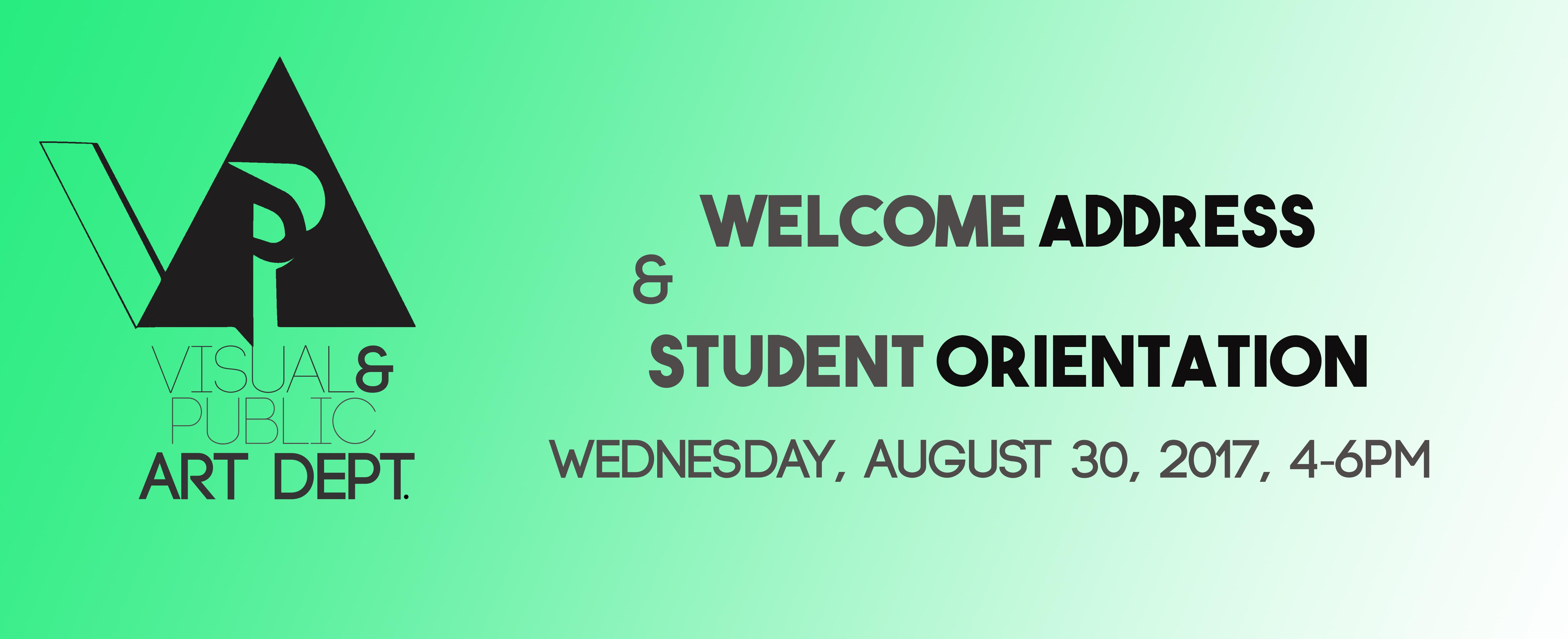 Student Orientation-fall 2017