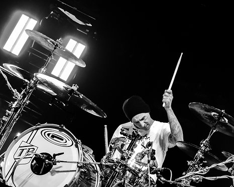 Travis Barker of blink-182 - B&W