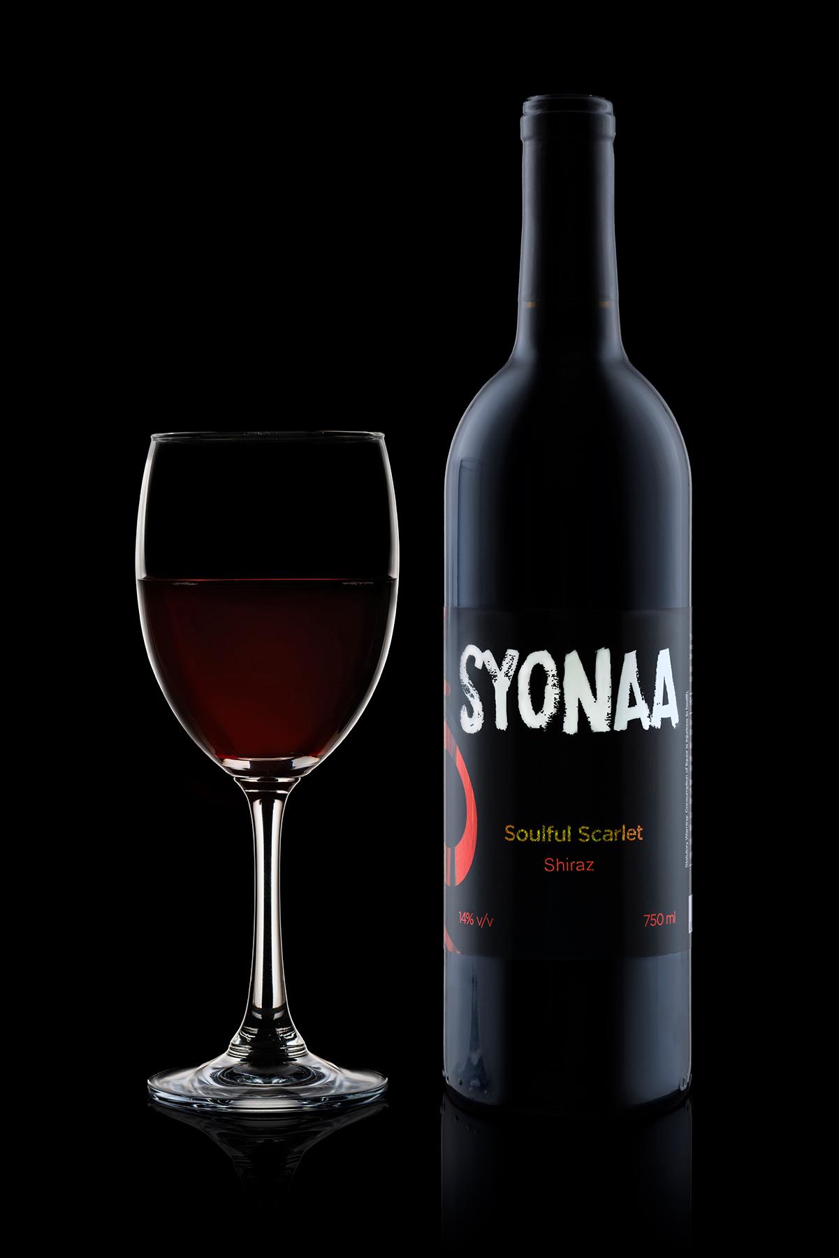 Shiraz with wine glass