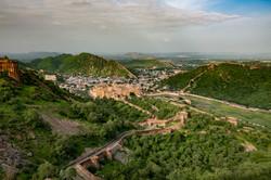 Amer Fort from Jaidev Fort, Jaipur